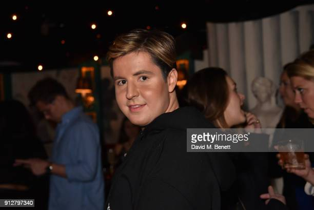 Valentine Sozbilir attends Bunga Bunga Covent Garden's 1st birthday party on January 31 2018 in London England