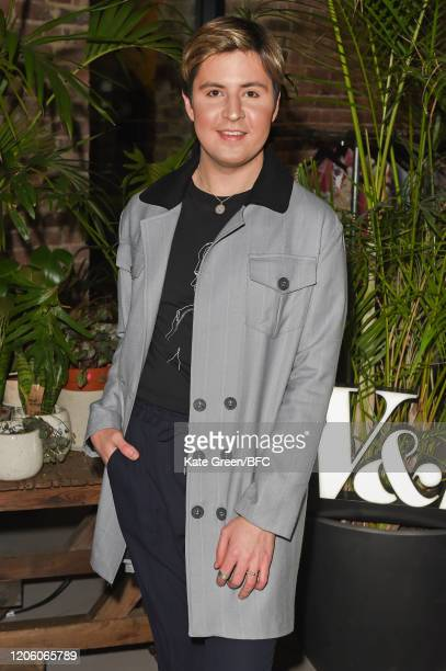 Valentine Sozbilir attends the Wolf Badger 10th Year Anniversary party during London Fashion Week February 2020 at Coal Drops Yard on February 13...