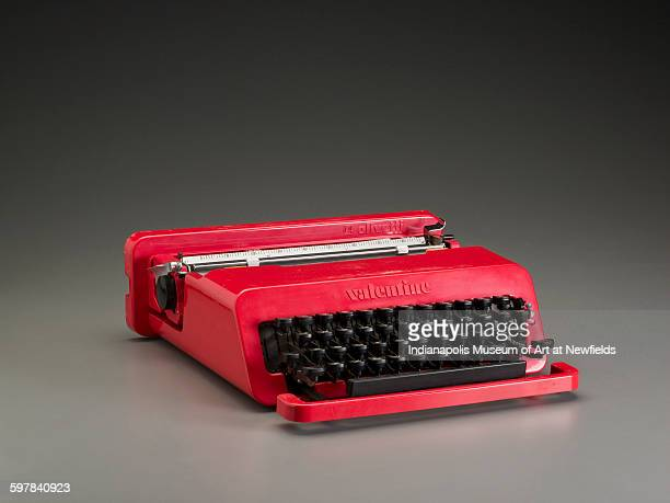 Valentine typewriter for Olivetti by designers Italian Ettore Sottsass and British Perry A King 1969 Gift of Eugene D Silver Rydal Pennsylvania