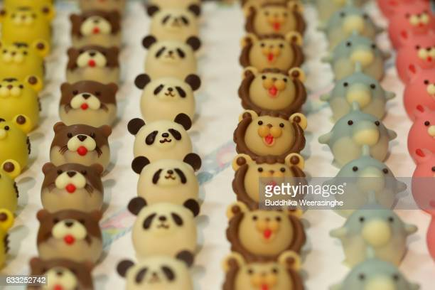 Valentine's Day animal chocolates are pictured at Takashimaya Department Store on February 1 2017 in Osaka Japan Department stores in Japan set up a...