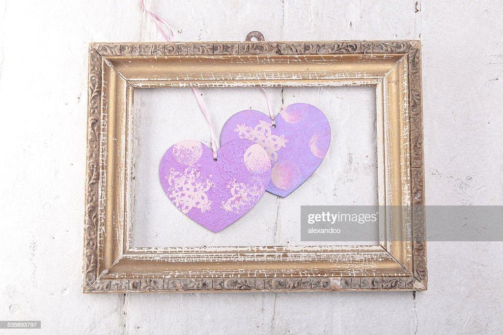 Valentines Day background with hearts : Bildbanksbilder