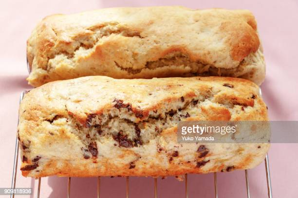 Valentine's Day Banana Bread Against Soft Pink-color Background