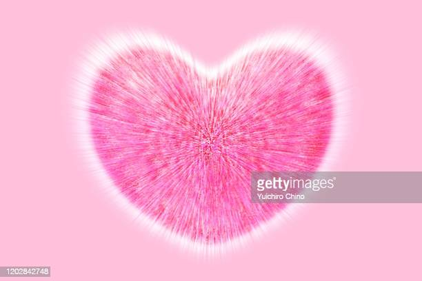 valentine's day beating pink heart - beating heart stock pictures, royalty-free photos & images