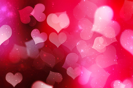 Valentines day blurred hearts background. 896306118