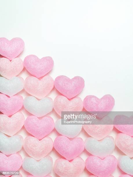 Valentine's day concept with heart shaped packaging foam cushions