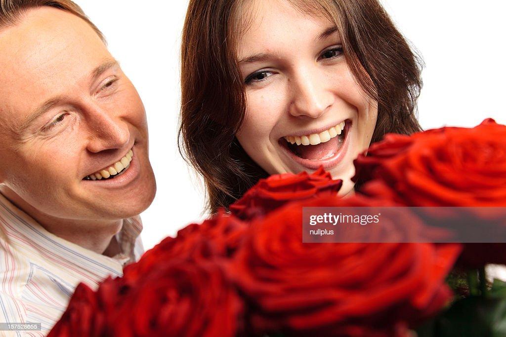 valentine's day couple : Stock Photo