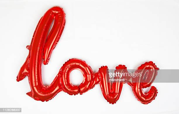valentine's day decoration, love balloon - valentines day stock pictures, royalty-free photos & images