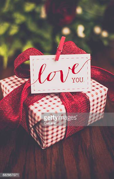 Valentine's Day gift with love note