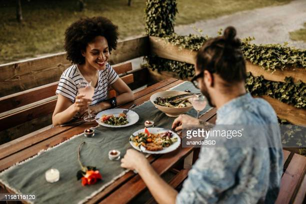 valentines day - valentines day dinner stock pictures, royalty-free photos & images