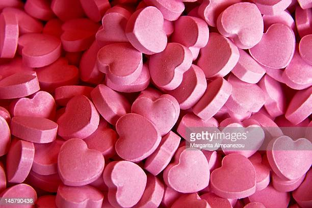 valentine's day - candy heart stock pictures, royalty-free photos & images
