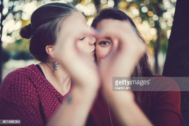 valentine's day - lesbian dating stock pictures, royalty-free photos & images