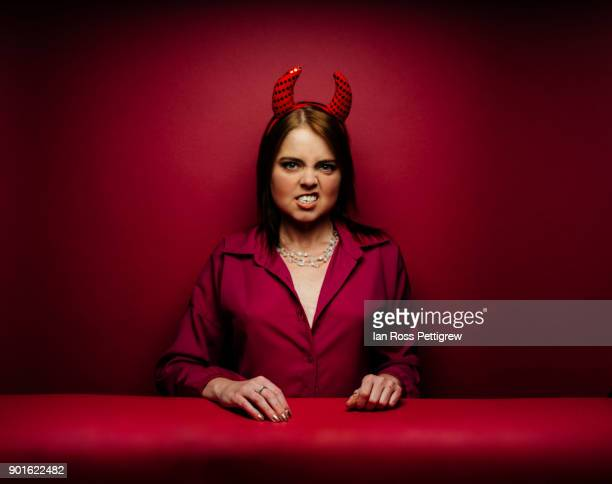valentine's day - devil costume stock photos and pictures