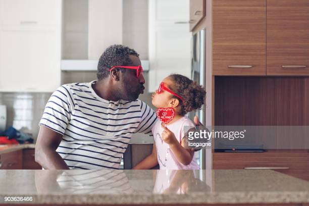 valentine's day - father daughter stock pictures, royalty-free photos & images