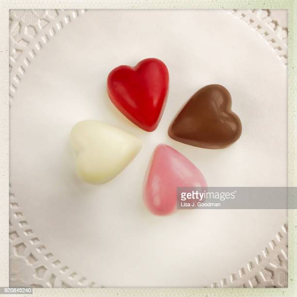 valentine's day - doily stock photos and pictures