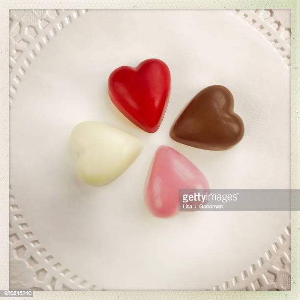 valentine's day - doily fotografías e imágenes de stock