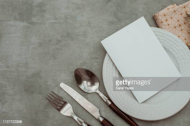 valentines day table place setting - menu stock pictures, royalty-free photos & images
