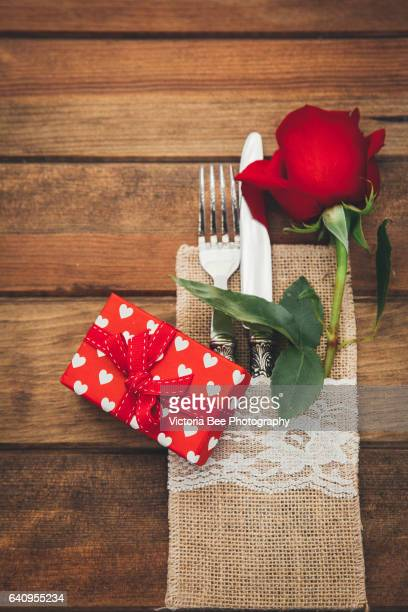 Valentines day table settings
