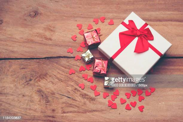 valentines gift box, love concept for valentine's day - saint valentin stock pictures, royalty-free photos & images
