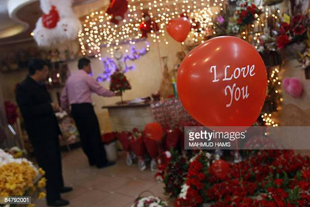 Valentine's gifts fill a shop in Gaza City on February 14 2009 Despite the devastation of Israel's 22day offensive and the ongoing blockade of the...