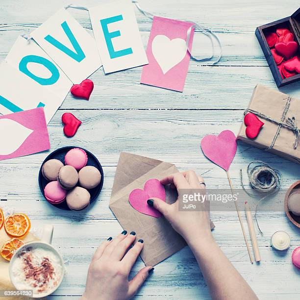 "valentines""s day - home made stock pictures, royalty-free photos & images"