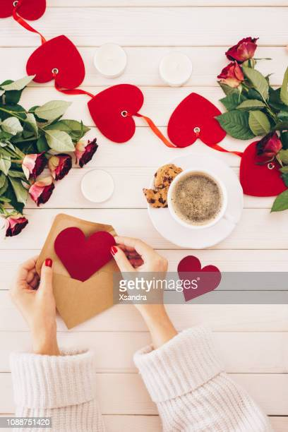 valentines's day preparation - valentine card stock pictures, royalty-free photos & images