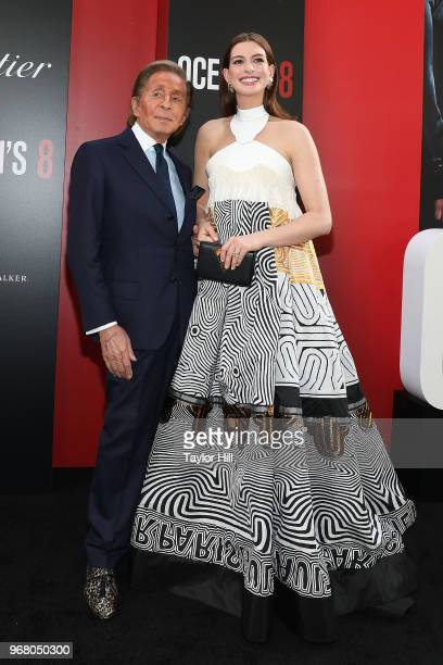 Valentino and Anne Hathaway attend the world premiere of 'Ocean's 8' at Alice Tully Hall at Lincoln Center on June 5 2018 in New York City