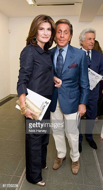 Valentino and guest attend the Richard Prince 'Continuation' Private View at the Serpentine Gallery on June 25 2008 in London England