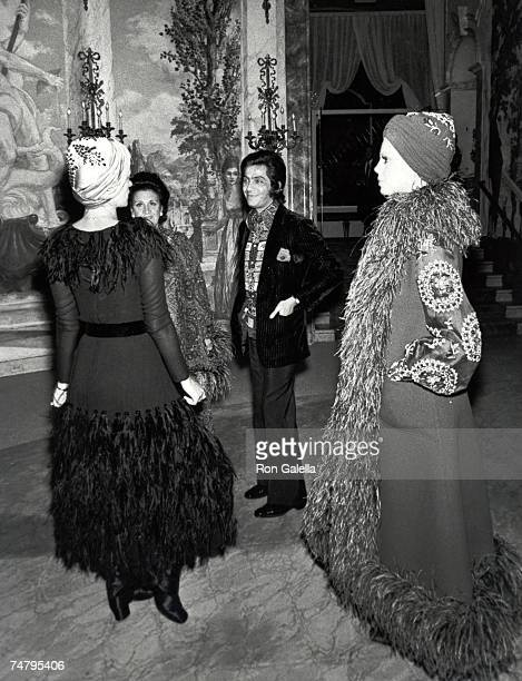 Valentino and guests at the Pierre Hotel in New York City New York