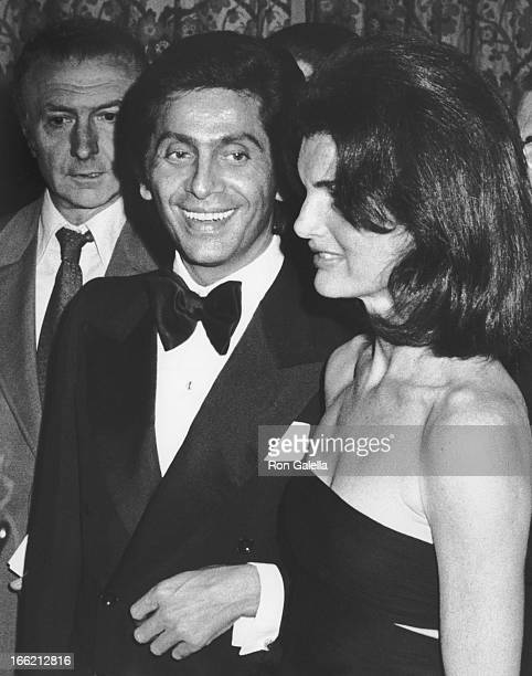 Valentino and Jackie Onassis attends Valentino Fashion Show Benefit for the Special Olympics on June 7 1976 at the Pierre Hotel in New York City
