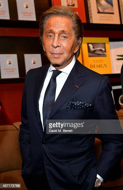 Valentino at Carlos Souza's book signing of #Carlos's Places at The Assouline Boutique at Claridge's Hotel on October 13 2014 in London England