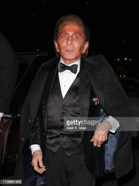 Valentino attending the Vogue Bafta after party at Annabel's club on February 10 2019 in London England