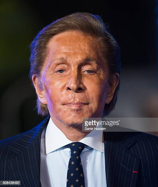 Valentino attends a London Fan Screening of the Paramount Pictures film 'Zoolander No 2' at Empire Leicester Square on February 4 2016 in London...