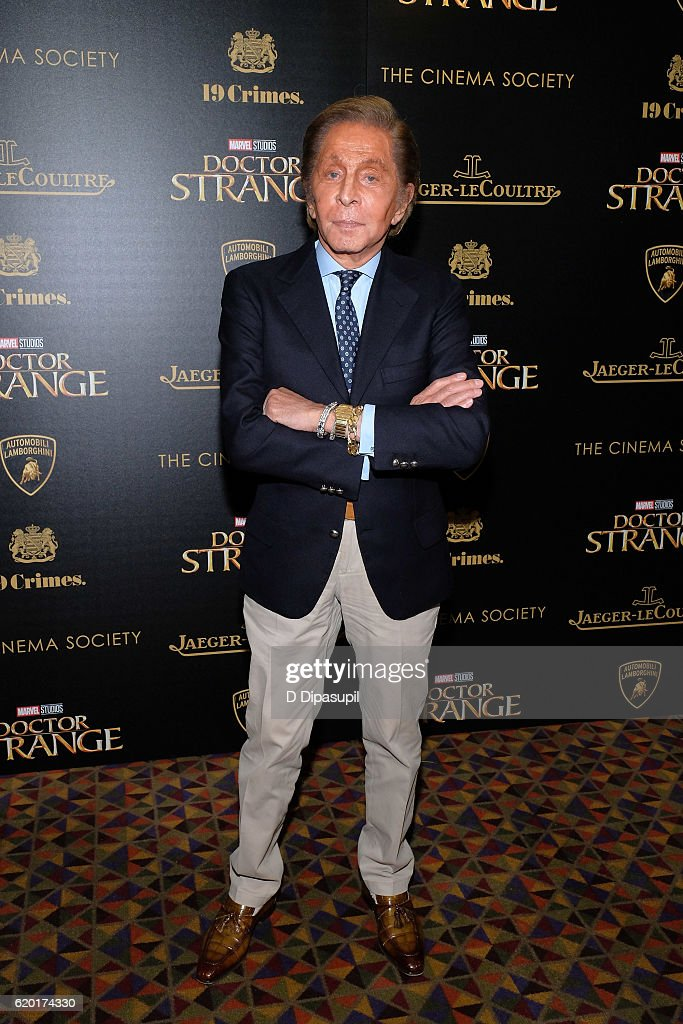 Valentino attends a screening of Marvel Studios' 'Doctor Strange', hosted by Lamborghini with The Cinema Society, Jaeger-LeCoultre, and 19 Crimes Wines, at AMC Empire on November 1, 2016 in New York City.