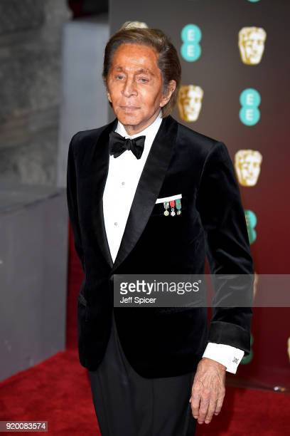 Valentino attends the EE British Academy Film Awards held at Royal Albert Hall on February 18 2018 in London England
