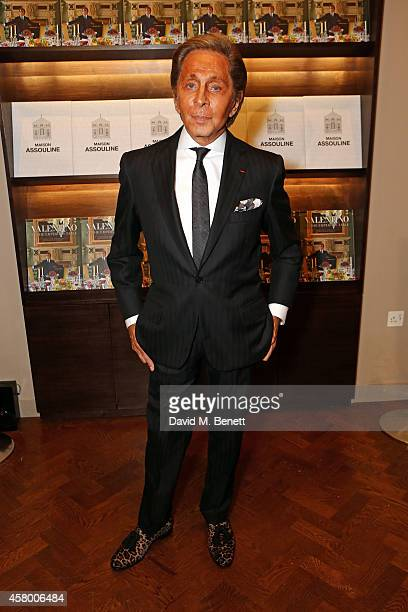 Valentino attends the opening of Maison Assouline and signs copies of his new book 'Valentino At The Emperors Table' on October 28 2014 in London...