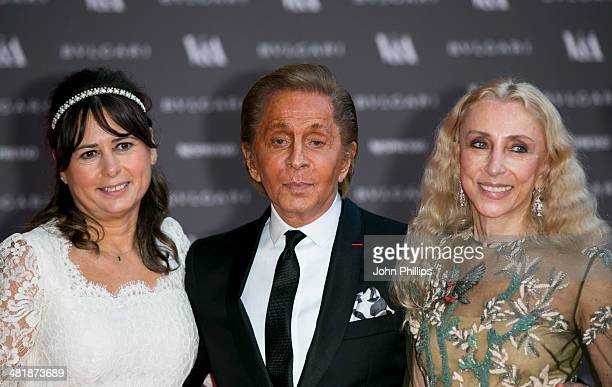 Valentino attends the preview of The Glamour of Italian Fashion exhibition at Victoria Albert Museum on April 1 2014 in London England