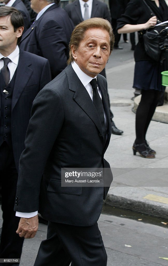 d81d9b45f25c Valentino attends Yves Saint Laurent s Funeral Service on June 5 ...