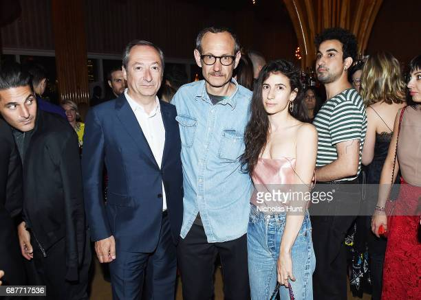 Valentino CEO Stefano Sassi Terry Richardson and Alex Bolotow attend the Valentino Resort 2018 Runway Show After Party on May 23 2017 in New York City