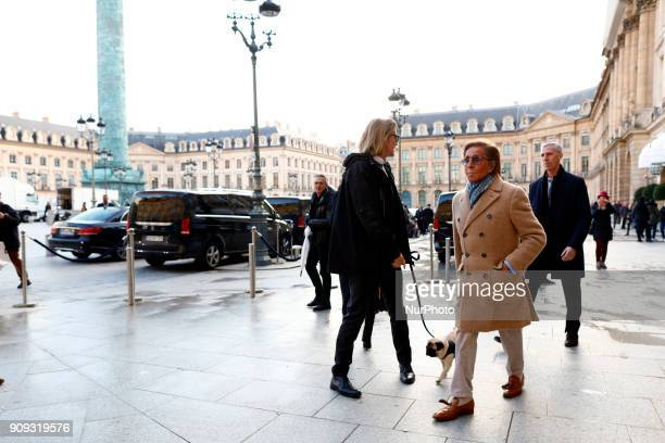 Valentino Clemente Ludovico Garavani seen walking place vendome in Paris France on January 23 2018