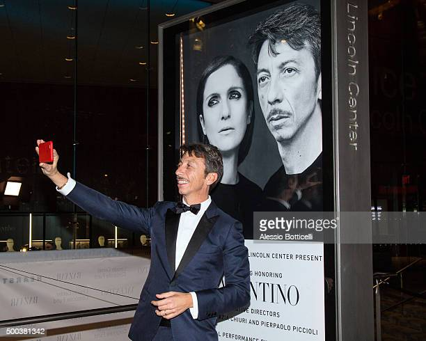 Valentino creative director Pierpaolo Piccioli is seen at Lincoln Center on December 7 2015 in New York City