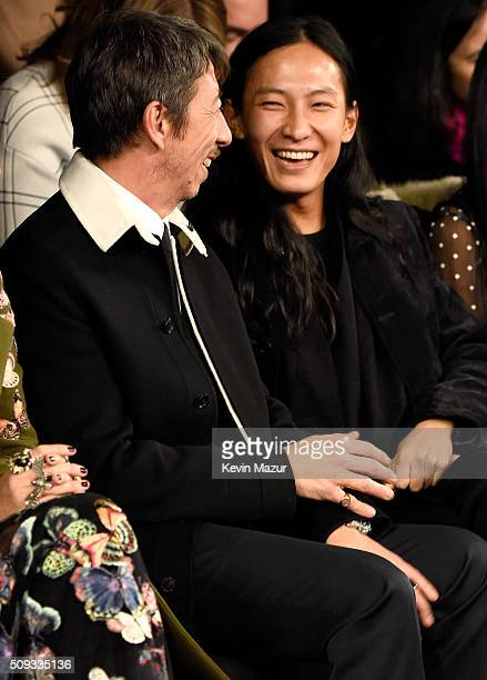 Valentino creative directors Pierpaolo Piccioli and designer Alexander Wang attend the 'Zoolander 2' World Premiere at Alice Tully Hall on February 9...