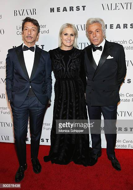 Valentino Creative Directors Pierpaolo Piccioli and Maria Grazia Chiuri and Fashion designer and honorary president of the Valentino Fashion House...