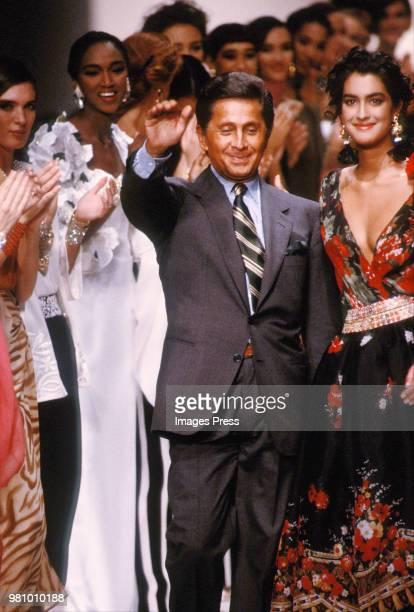Valentino during New York Fashion Week 1992 in Paris France