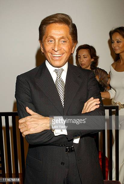 Valentino during Valentino And Manuel Pertegaz Receive The Golden Needle Award at Suit Museum in Madrid Spain