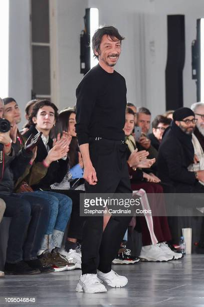 Valentino Fashion Designer Pierpaolo Piccioli walks the runway during the Valentino Menswear Fall Winter 2019/2020 show as part of Paris Fashion Week...