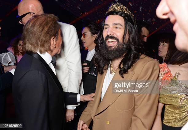 Valentino Garavani and Alessandro Michele attend The Fashion Awards 2018 in partnership with Swarovski after party at the Royal Albert Hall on...