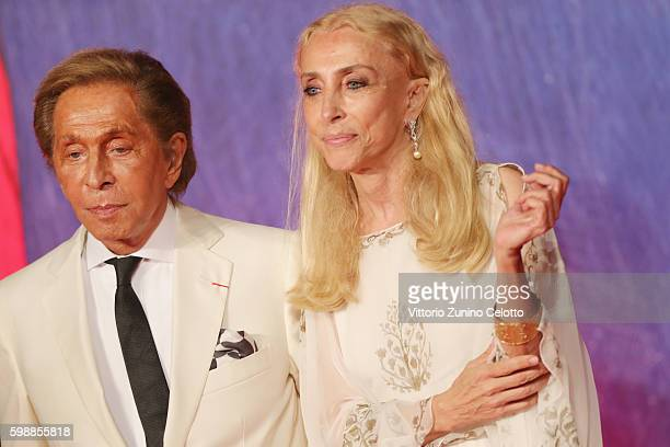 Valentino Garavani and Franca Sozzani attends the premiere of 'Franca Chaos And Creation' during the 73rd Venice Film Festival at Sala Giardino on...