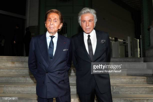 Valentino Garavani and Giancarlo Giammetti attend Karl for Ever Tribute to Karl Lagerfeld at Grand Palais on June 20 2019 in Paris France