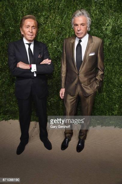 Valentino Garavani and Giancarlo Giammetti attend the 14th Annual CFDA/Vogue Fashion Fund Awards at Weylin B Seymour's on November 6 2017 in the...