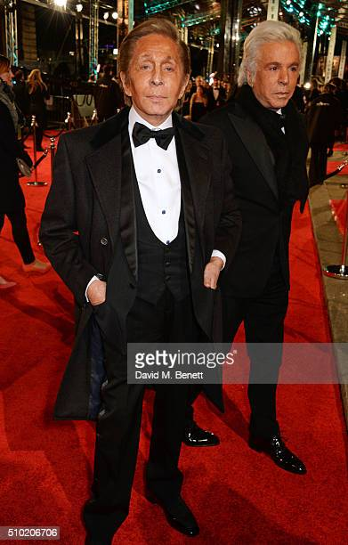 Valentino Garavani and Giancarlo Giammetti attend the EE British Academy Film Awards at The Royal Opera House on February 14 2016 in London England